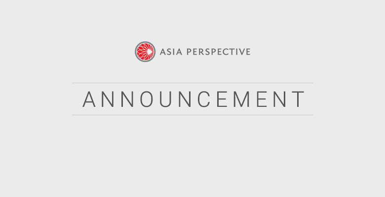 Asia Perspective Announcement