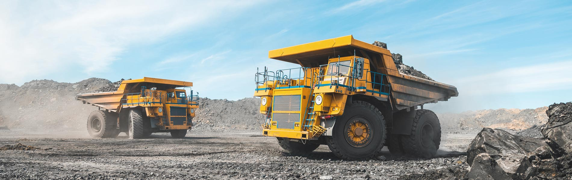 Heavy machinery at an open mine