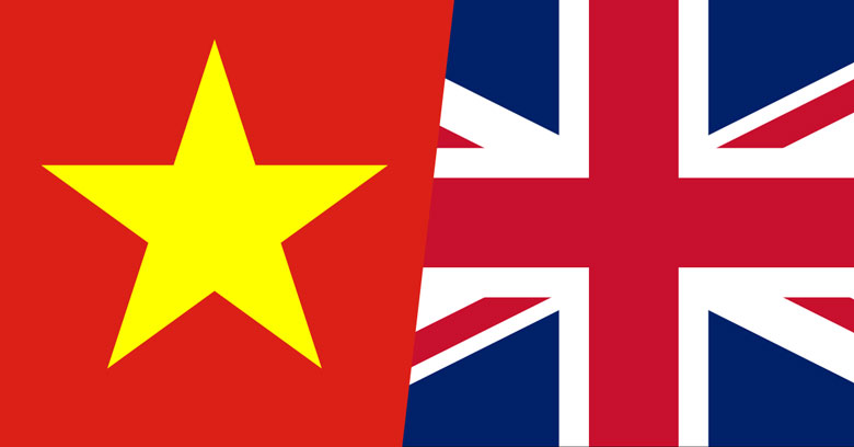 Vietnam and UK flags combined