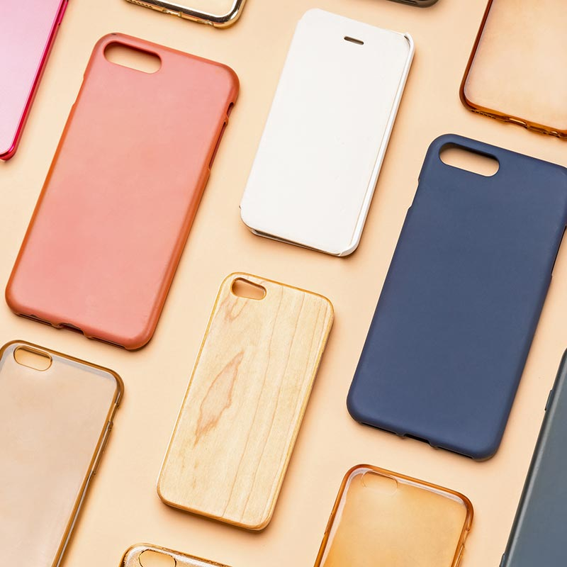 Selection of mobile phone covers